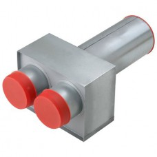 Helios FRS-WDV 2-75/100 Вывод через стену для подключения решетки D = 100 мм., 2 x 75 мм (арт. 9621)
