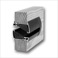 Silendo BROWN Звукопоглощающая дверная решетка из алюминия, цвет коричневый, Бельгия