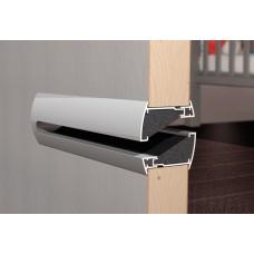 Silendo INOX Звукопоглощающая дверная решетка из алюминия, цвет стальной, Бельгия